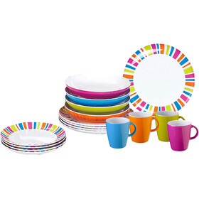 Brunner Lunch Box Set de platos, Design Spectrum